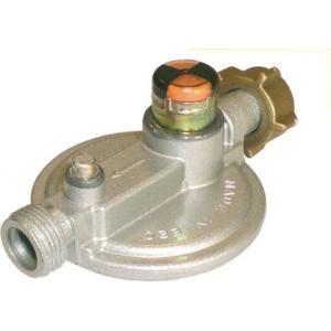 Banides et Debeaurain B199591 - Détendeur sécurité butane 1.3kg-h. 28mbar écrou bouteille male 20x150 avec indicateurS-R