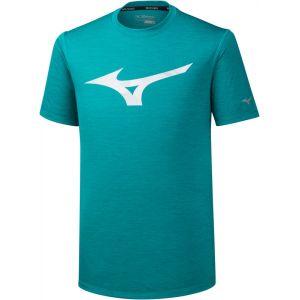 Mizuno Impulse Core RB Tee Men, blue grass S T-shirts course à pied