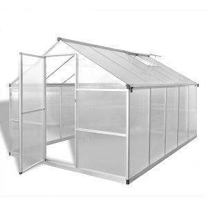 VidaXL 41319 - Serre renforcée en aluminium avec bâti intégré 7,55 m²