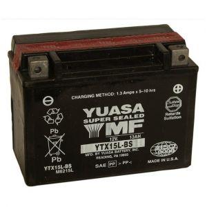 Yuasa Batterie moto YTX15L-BS 12V 13.7AH 230A
