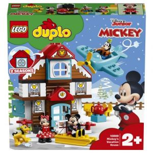 Lego -La Maison de Vacances de Mickey Duplo Disney Jeux de Construction, 10889, Multicolore