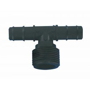 Cap Vert Connexion Té fileté cannelé diamètre 16 mm - Filetage Mâle 20 x 27 mm - Vendu par 2
