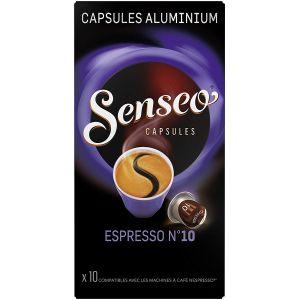 Philips senseo Pack Capsules Espresso n°10 Senseo 5 x 10 compatibles Nespresso®