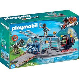 Playmobil 9433 -  The Explorers : Bateau avec cage et Deinonychus