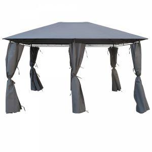 Concept-Usine Matmata - Tente de jardin Pergola 3x4m gris anthracite tonnelle, barnum