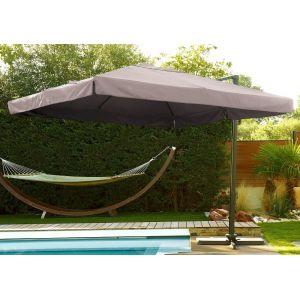DCB Garden Parasol déporté carré 300 x 300 cm