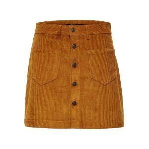 Only Mini-jupe boutonnée en velours côtelé
