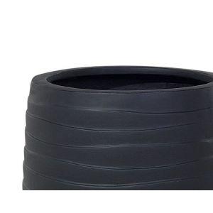 Beliani Cache pot noir 21 x 21 x 22 cm LOMOND