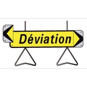 Taliaplast 526011 - Panneau signalisation déviation avec flèche amovible kd t1 1000x300mm