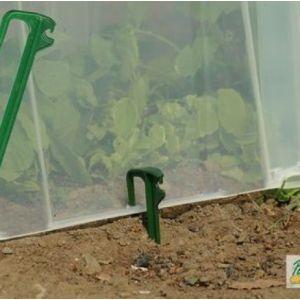 Pouss'vert Pack de 10 piquets de tunnel en polyamide Pic'vert