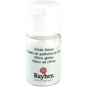 Rayher Poudre de paillettes à effet Blanc aurore boréale 10 ml