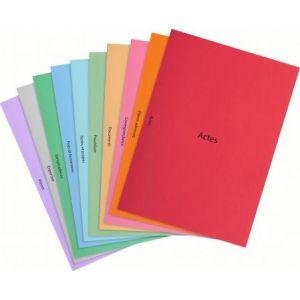 Exacompta 350018E - Paquet de 40 sous-cotes de plaidoirie 10 modèles, en carte 160 g/m², coloris assortis