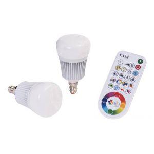 Müller Licht Müller-Licht Ampoule 7 W RVB + idual Starter Set de 2 avec douille E14 + Télécommande IR ml400040