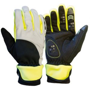 Wowow Paire de gants réfléchissants en polyester pour vélo Dark Gloves 4.0 taille L