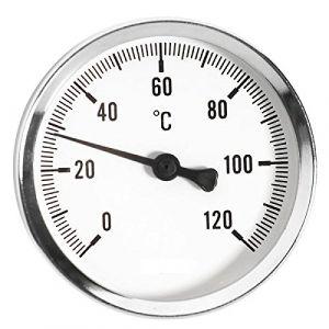 Ferro 63mm 0 - 120c jauge de température d'huile de l'eau thermo 1/2 pouce entrée arrière thermomètre