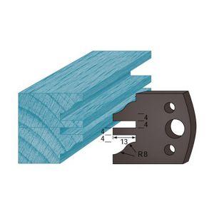 Diamwood Platinum Jeu de 2 contre-fers profilés Ht. 38 x 4 mm profil / contre-profil A97 pour porte-outils de toupie