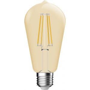Dhome Ampoule LED décorative ambrée à filament forme Edison E27 - 660 lm
