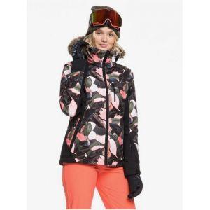 Roxy Jet Ski Premium Veste Femme, living coral plumes M Vestes sports d'hiver
