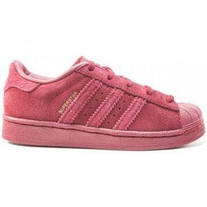 Adidas Superstar C, Basket Mode Fille, Rouge Buruni, 32 EU