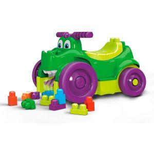 Mega Bloks First Builders Porteur et Ramasseur Croc Blocs, Briques et Jeu de Construction, 26 Pièces, Jouet pour Bébé et Enfant de 1 à 3 Ans, Gfg22