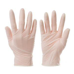 Silverline Lot de 100 gants vinyle jetables - Médium