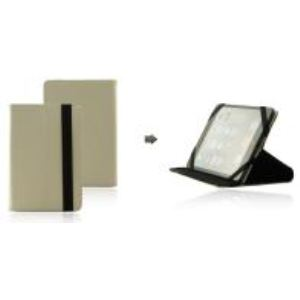 Mocca Hipa 21 - Etui à clapet en cuir grainé avec support intégré pour tablette