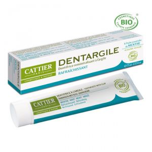 Cattier Dentargile - Dentifrice Bio rafraîchissant à la menthe