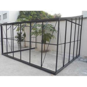 Image de Chalet et Jardin Serre de jardin adossable 126 en verre trempé 7,22 m2