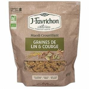 Favrichon Muesli Croustillant au Lin et Graines de Courges - 450 gr