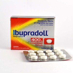 Sanofi Ibupradoll 400 mg - comprimé pelliculé ibuprofène - boite de 12