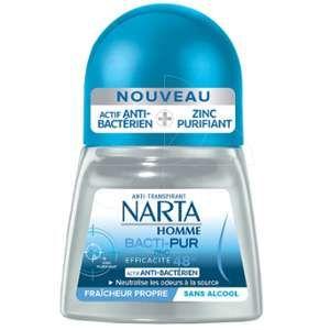 Narta Homme Bacti-Pur - Déodorant bille Anti-Transpirant 48h