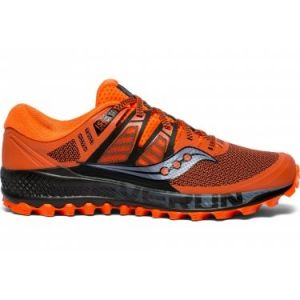 Saucony Peregrine Iso Chaussures de Running Compétition Homme, (Orange/Black 36), 42.5 EU