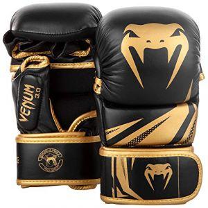 Venum Challenger 3.0 Gants de MMA Sparring Mixte Adulte, Noir/Or, L/L/XL