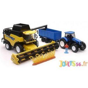 Moissonneuse New Holland + Tracteur