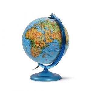 JPC Globe lumineux KID, bleu, 250 mm, texte francais