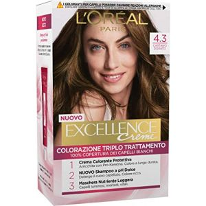 L'Oréal Excellence - Crema Colorante Triplo Trattamento Avanzato - 4.3 Castano Dorato