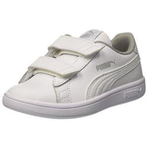 Puma Smash V2 L V PS, Sneakers Basses Mixte Enfant, Blanc White White, 32 EU