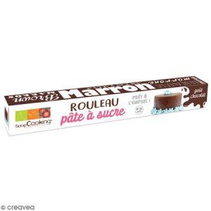 Scrapcooking Rouleau de Pâte à sucre Marron - Goût Chocolat - 36 cm
