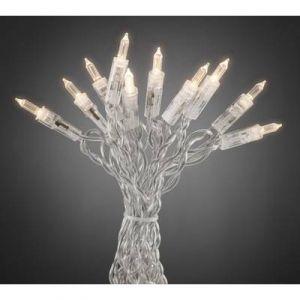 Konstsmide 6302-123 Mini Guirlande d'Eclairage LEDs avec Interrupteur 35 LEDs 230 V Blanc Chaud Câble Transparent