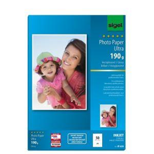 Sigel IP669 - 50 feuilles de papier photo Ultra 190g/m² (A4)
