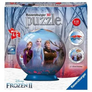 Ravensburger La Reine des Neiges 2 - Puzzle 3D rond 72 pièces