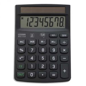 Citizen ECC 210 - Calculatrice de bureau 8 chiffres