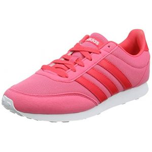 Adidas V Racer 2.0, Chaussures de Running Femme, Rose (Real Pink/Shock Red/Footwear White 0), 40 2/3 EU