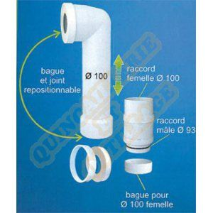 Regiplast Raccord WC Pip'Up 2 recoupable & raccord extensible