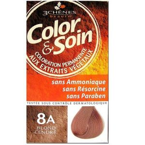 Les 3 chênes Color & Soin 8A blond cendré - Coloration permanente