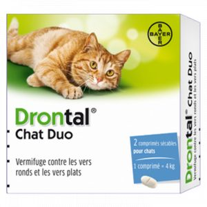Bayer Drontal Chat Duo - Vermifuge contre les vers