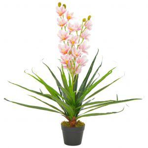 VidaXL Plante artificielle avec pot Orchidée Rose 90 cm
