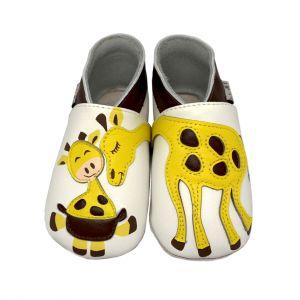 Lait et Miel Chaussons cuir Girafe