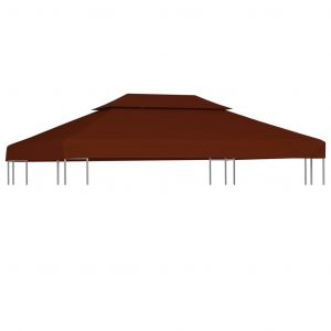VidaXL Toile supérieure double de belvédère 310 g/m² 4x3 m Terre cuite
