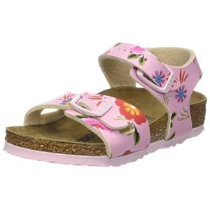 Birkenstock Rio, Sandales Bride Arriere Filles, Rose (China Flowers Pink China Flowers Pink), 32 EU